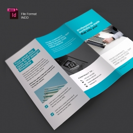 Creative Clean Trifold Brochure With Blue Accent