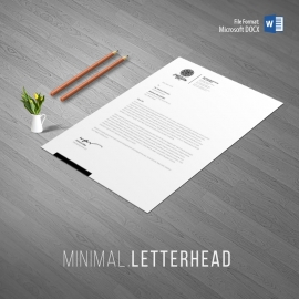 Creative Clean Word Letterhead Design