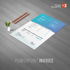 Creative Clen Invoice With Powerpoint Template