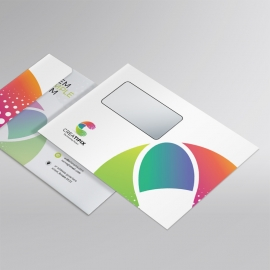 Creative Colorful  B5 Envelope Template