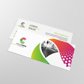 Creative Colorful Compliment Card Template