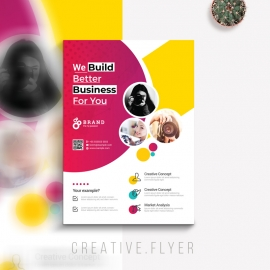 Creative Colorful Flyer With Cricle