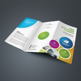 Creative Colorful TriFold Brochure With Cricle