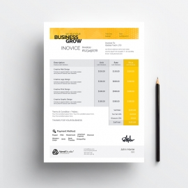 Creative Corporate Clean Business Invoice