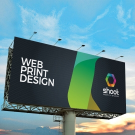Creative Dark Billboard Banner With Black Accent