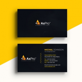 Creative Dark BusinessCard With Black Accent