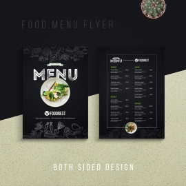 Creative Dark Food Menu Flyer