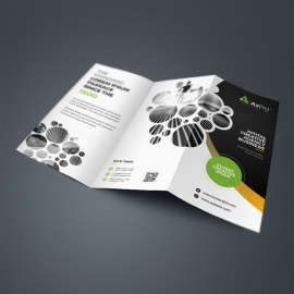 Creative Dark TriFold Brochure With Cricle