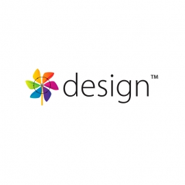 Creative & Design Agency Logo with Colourful Floral