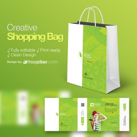 Creative Design & Clean Shopping Bag