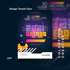 Creative Design Trends Event Flyer / Poster