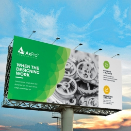 Creative Green Billboard Banner With Cricle