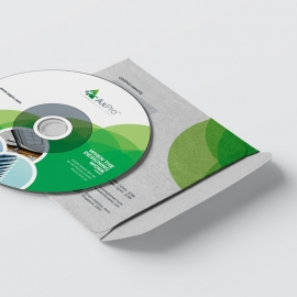 Creative Green CD Pack With Cricle