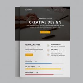Creative Green Orange Business Flyer