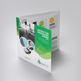 Creative Green Square TriFold Brochure With Cricle