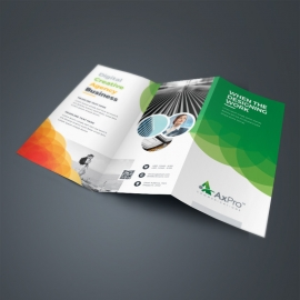 Creative Green TriFold Brochure With Cricle