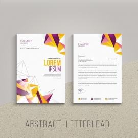 Creative Letterhed With Abstract Colorful