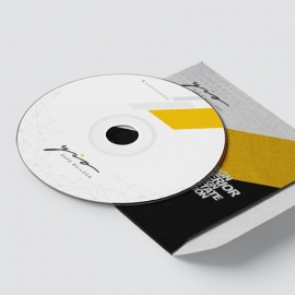 Creative Minimal CD-Sticker Template
