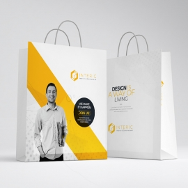 Creative Minimal Clean Shopping Bag Template