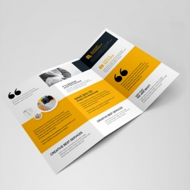 Creative Minimal Clean Trifold Brochure  Template