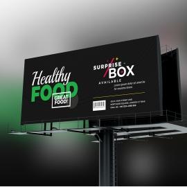 Creative Minimal Fast Food Billboard Banner