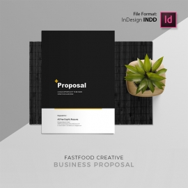 Creative Minimal Fast Food Project Proposal Free Download
