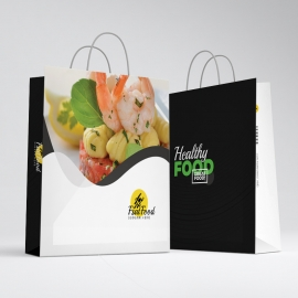 Creative Minimal Fast Food Shopping Bag Template