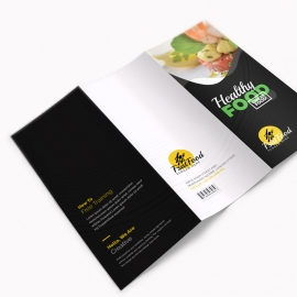 Creative Minimal Fast Food Trifold Brochure Template