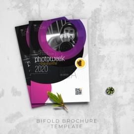 Creative Minimal Photography Bifold Brochure