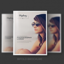 Creative Minimal Photography Bifold Brochure