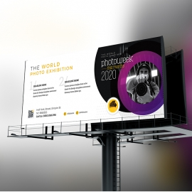 Creative Minimal Photography Billboard Signage