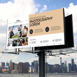 Creative Minimal Photography Billboard Signage