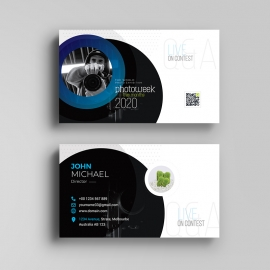 Creative Minimal Photography Business Card Template