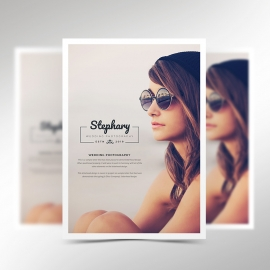 Creative Minimal Photography Flyer Template