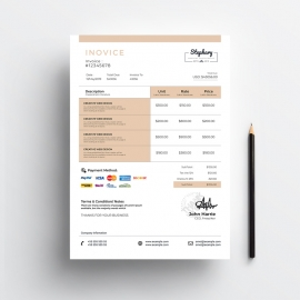 Creative Minimal Photography Invoice
