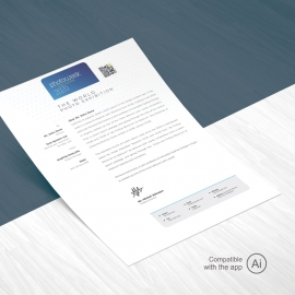 Creative Minimal Photography Letterhead Template