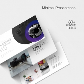 Creative Minimal Photography PowerPoint Template