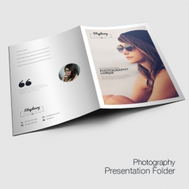 Creative Minimal Photography Presentation Folder