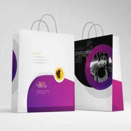 Creative Minimal Photography Shopping Bag