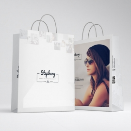 Creative Minimal Photography Shopping Bag