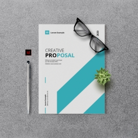 Creative Minimal Project Proposal Template