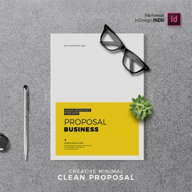 Creative Minimal Project Proposal Template Free Download