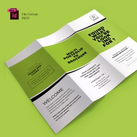 Creative Minimal Trifold Brochure With Green Accent