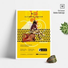 Minimalist Yellow Poster Flyer
