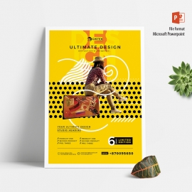 Creative Minimalist Yellow Poster Flyer