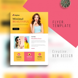 Creative Modern Business Flyer With Yellow Accent