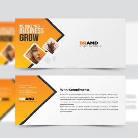 Creative Modern Compliment Card With Orange Accent