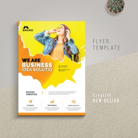 Creative Modern Flyer With Brush Style