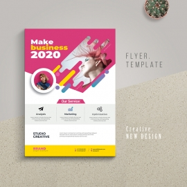 Creative Modern Flyer With Magenta Accent
