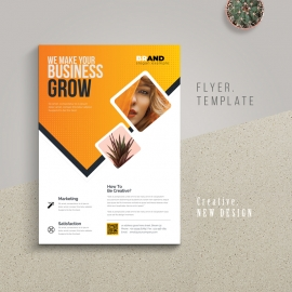 Creative Modern Flyer With Orange Accent